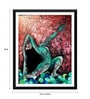 Paper 14 x 0.5 x 18 Inch Spirit of Sports Abstract Painting Yoga Pose 3 Framed Digital Poster by Tallenge