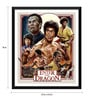 Paper 15 x 0.5 x 18 Inch Hollywood Collection Enter The Dragon Art Framed Digital Poster by Tallenge