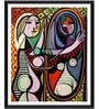 Tallenge Photographic Paper 18 x 1 x 24 Inch Modern Masters Collection Girl Before A Mirror by Pablo Picasso Framed Digital Art Print