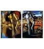 Vinyl 12 x 0.5 x 18 Inch Narcissus by Salvador Dali Premium Quality Ready to Hang Framed Art Panels - Set of 2 by Tallenge