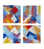 Vinyl 24 x 0.5 x 24 Inch Abstract Painting Mosaic Premium Quality Ready to Hang Framed Art Panels - Set of 4 by Tallenge