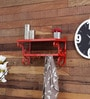Red Mild Steel Durable Rack by Home Sparkle
