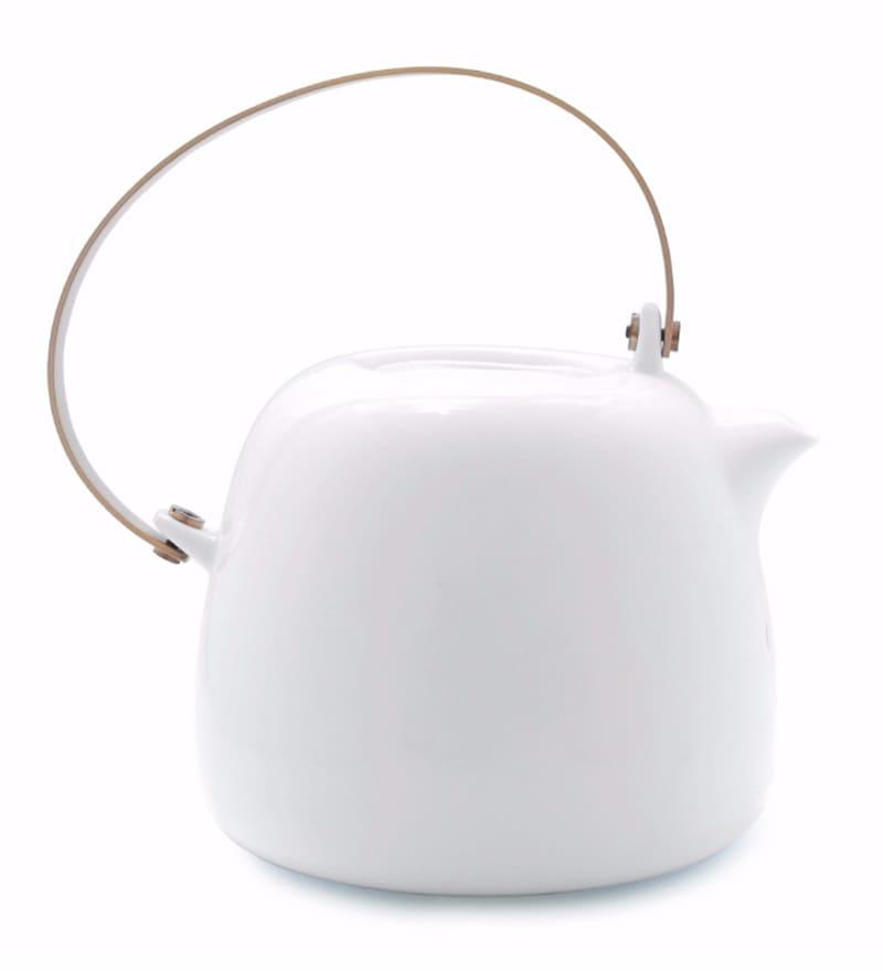 Teabox Baronial Porcelain 1.4 L Teapot with Copper Handle