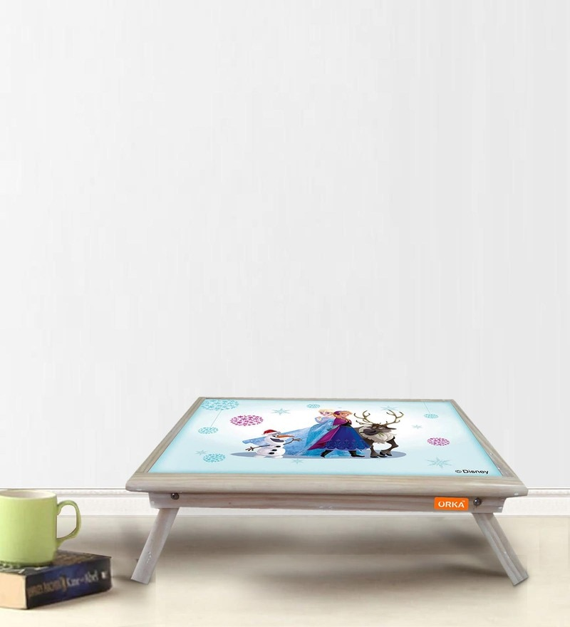 Team Frozen Digital Printed Folding Laptop Table by Orka
