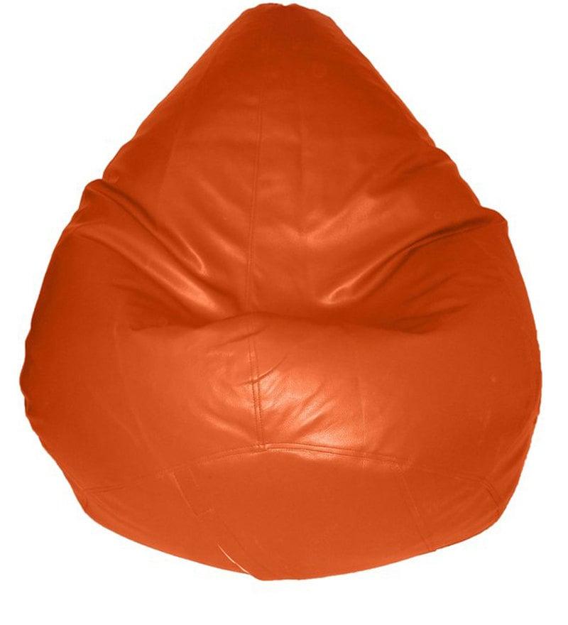 Teardrop Bean Bag Cover in Orange Colour by Feel Good