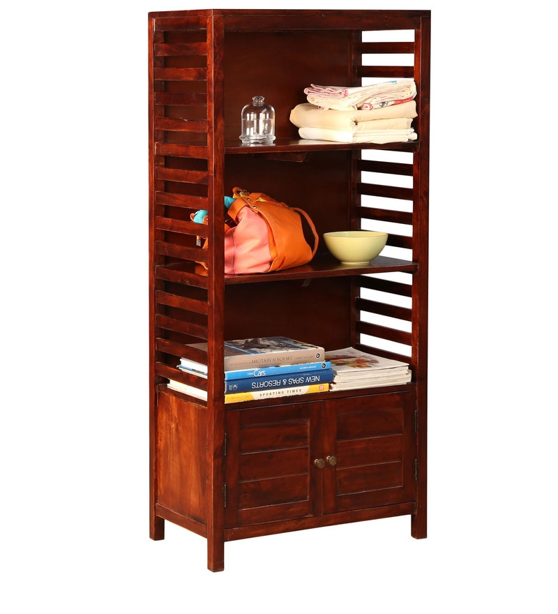Telford Book Shelf cum Display Unit in Chestnut Finish by HomeTown