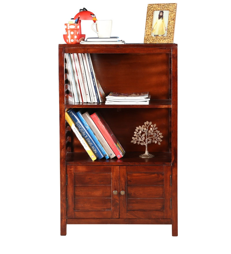 Telford Small Book Shelf cum Display Unit in Chestnut Finish by HomeTown
