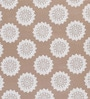 Tezerac Brown Cotton Abstract Patterns 88 x 59 Inch Bed Sheet (with Pillow Cover)