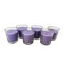 Tezerac Purple Lavender Wax Glass Candle - Set of 6