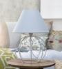 White Iron Table Lamp by Tezerac