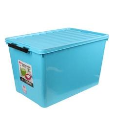 The Quirk Box Multipurpose Plastic 120 L Blue Storage Box With Lid