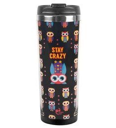 Thinkpot Stay Crazy Premium Multicolour Stainless Steel 450 ML Sipper