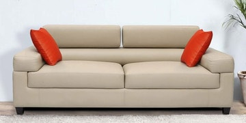 Three Seater Sofa in Cream Colour by Vittoria at pepperfry