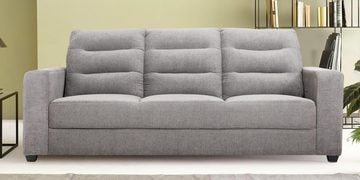 Three Seater Sofa In Grey Colour By Furncoms
