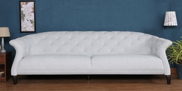 Three Seater Sofa In White Colour