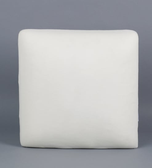 White Memory Foam 16 x 16 Inch Square Decorative Cushion Insert by The  White Willow