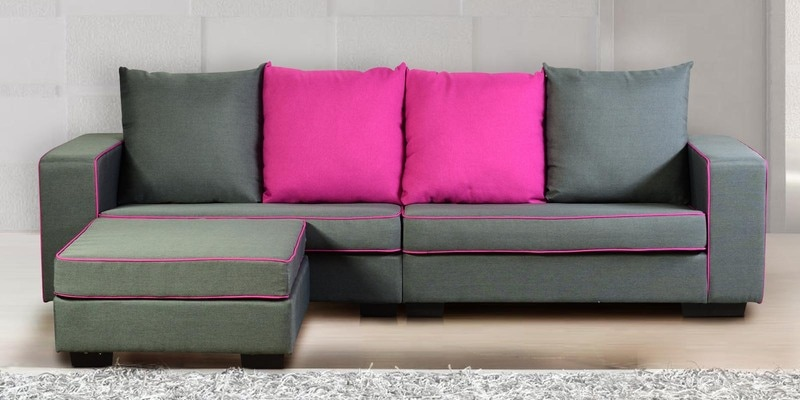 Buy Coral RHS Corner Sofa with Lounger by @home Online - Sofa ...