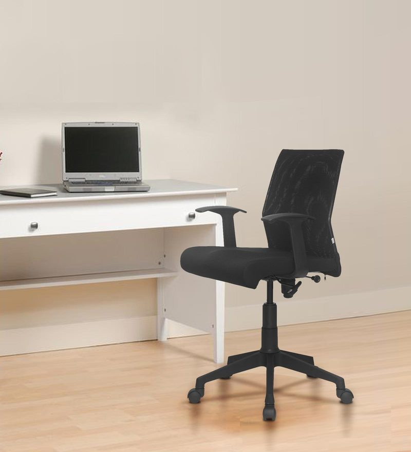 Thames Low Back Mesh Office Chair In Black Colour By Nilkamal
