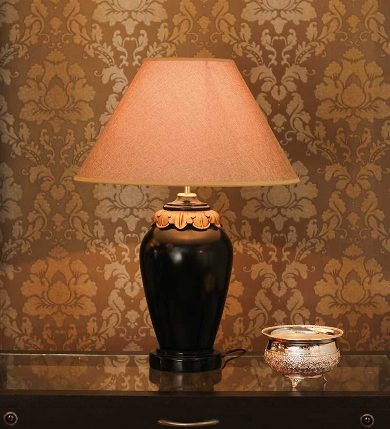 Brown Fabric Table Lamp by The 7th Galaxy