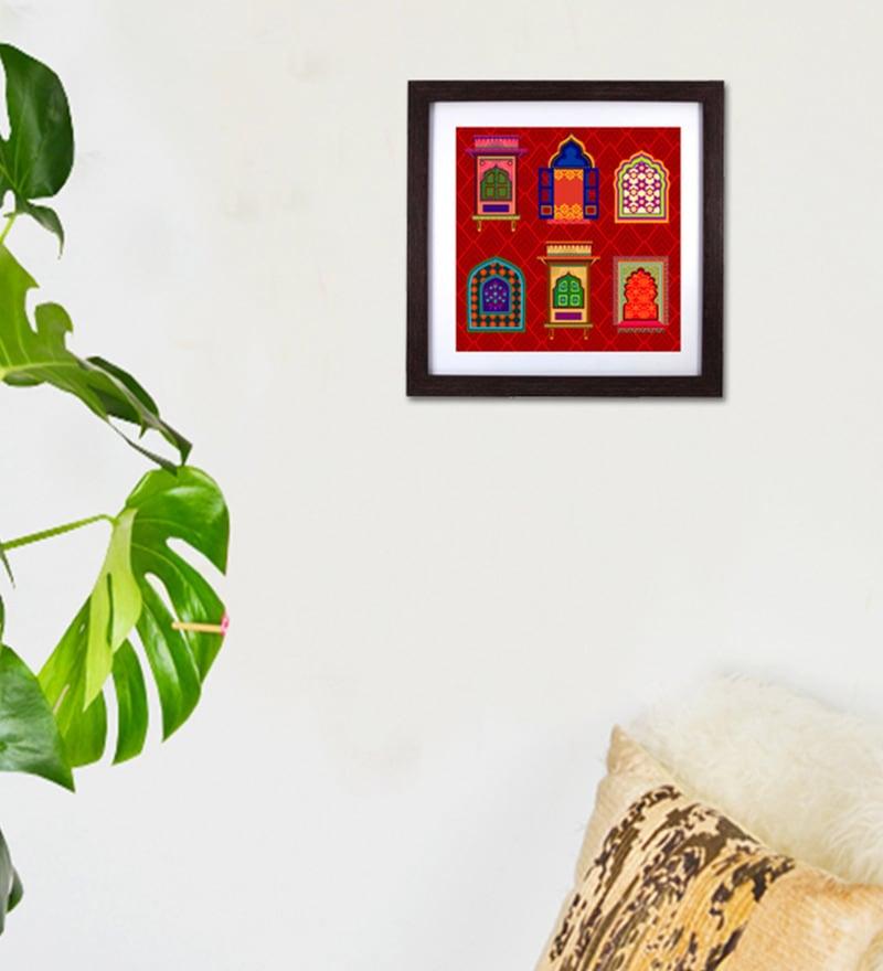Blue Wood & Acrylic Daricha Framed Wall Art by The Elephant Company