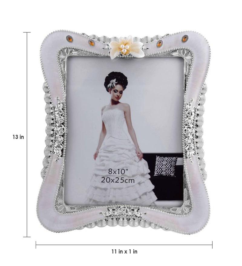 Buy The Exclusive Deco White & Silver Plastic 11 x 1 x 13 Inch Cute ...