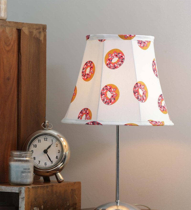 White and Pink Canvas Sweet Doughnuts Lamp Shade by The Good Shade