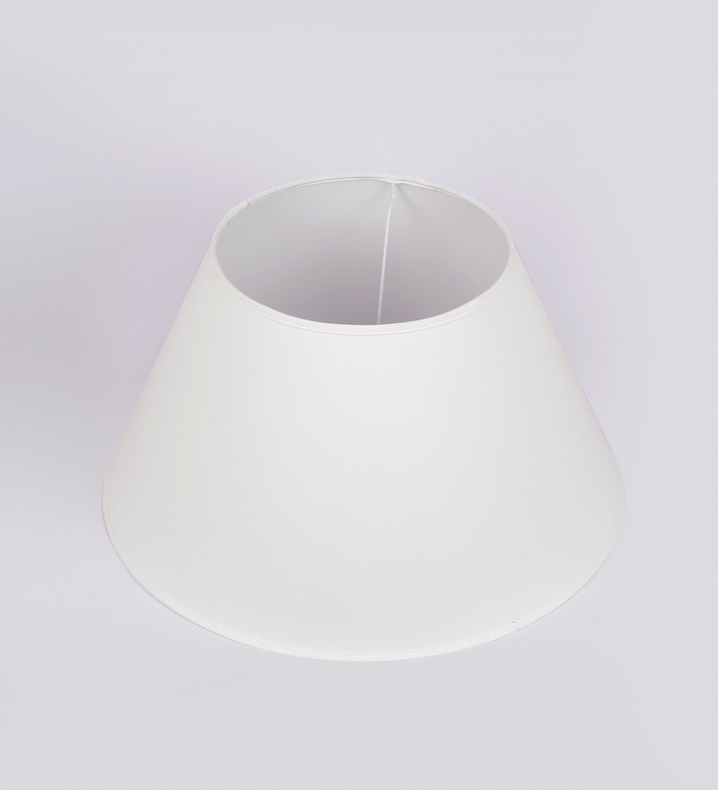 White Cotton Empire Lamp Shade by Kapoor E Illuminations