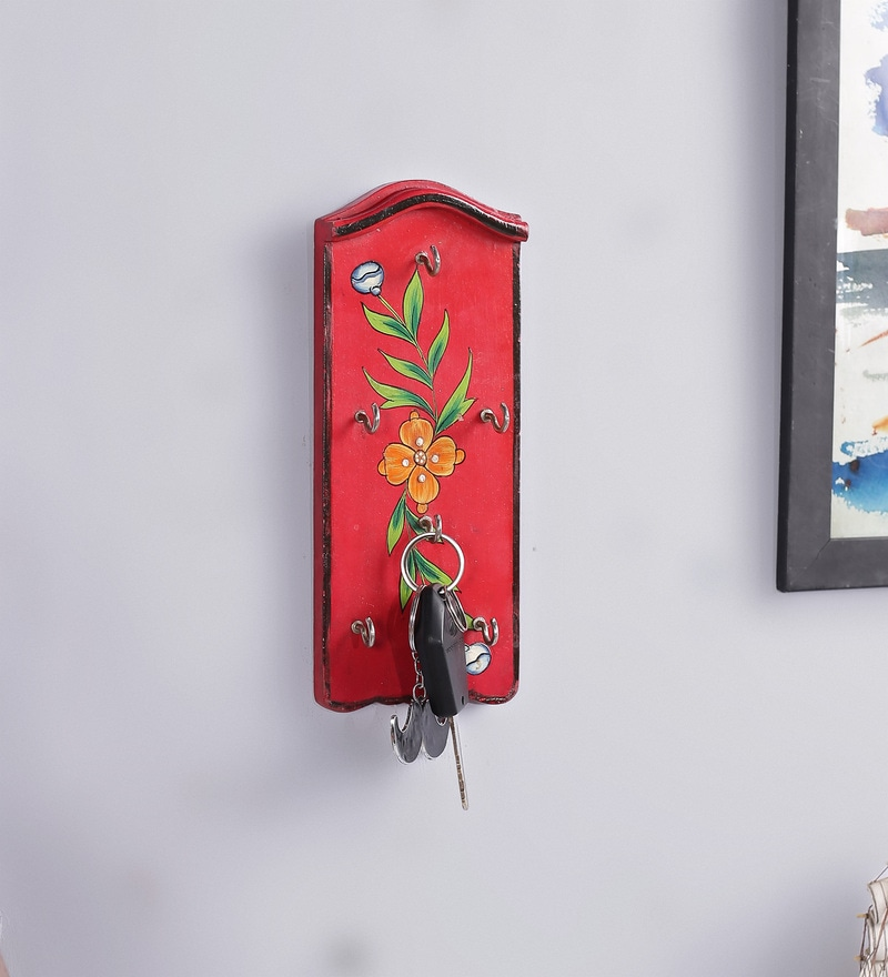 Red Mango Wood & MDF Jodhpuri Key Holder by The Mikky Shoppe Station