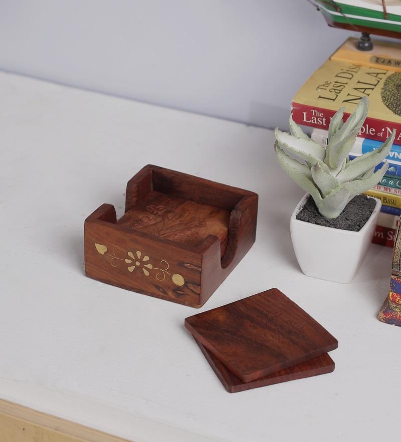 Brown Mango Wood & MDF Jodhpuri Wooden Collectible by Nandani Wood