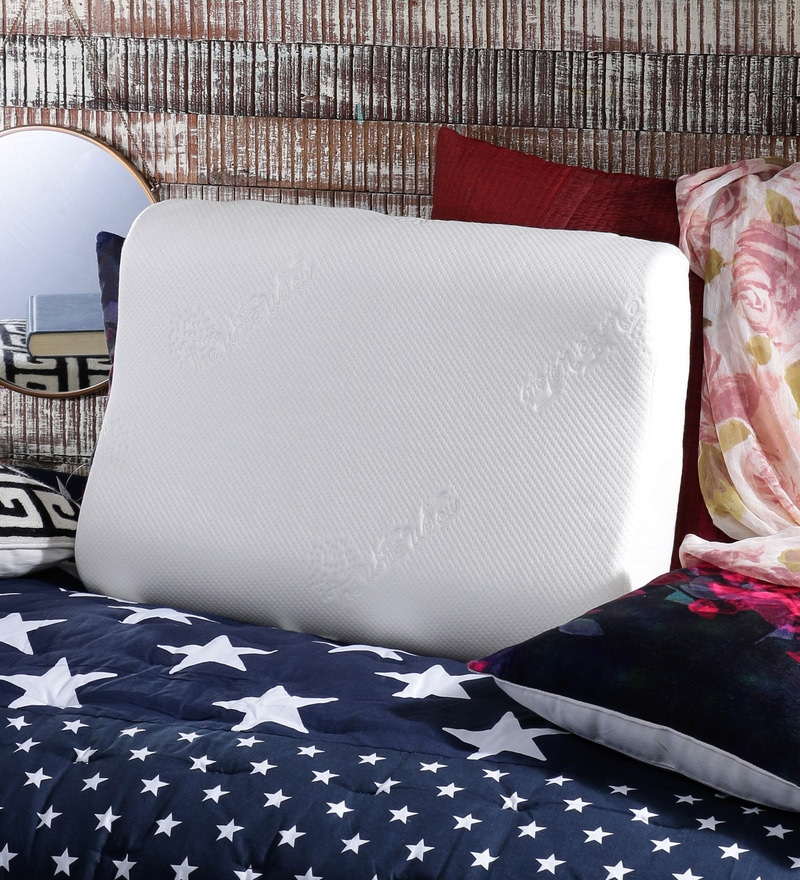 White Memory Foam 14 x 24 Pillow by The White Willow