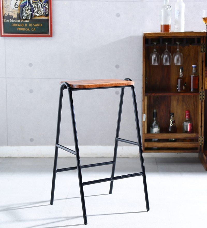 Tayan Bar Stool in Natural Finish by Bohemiana