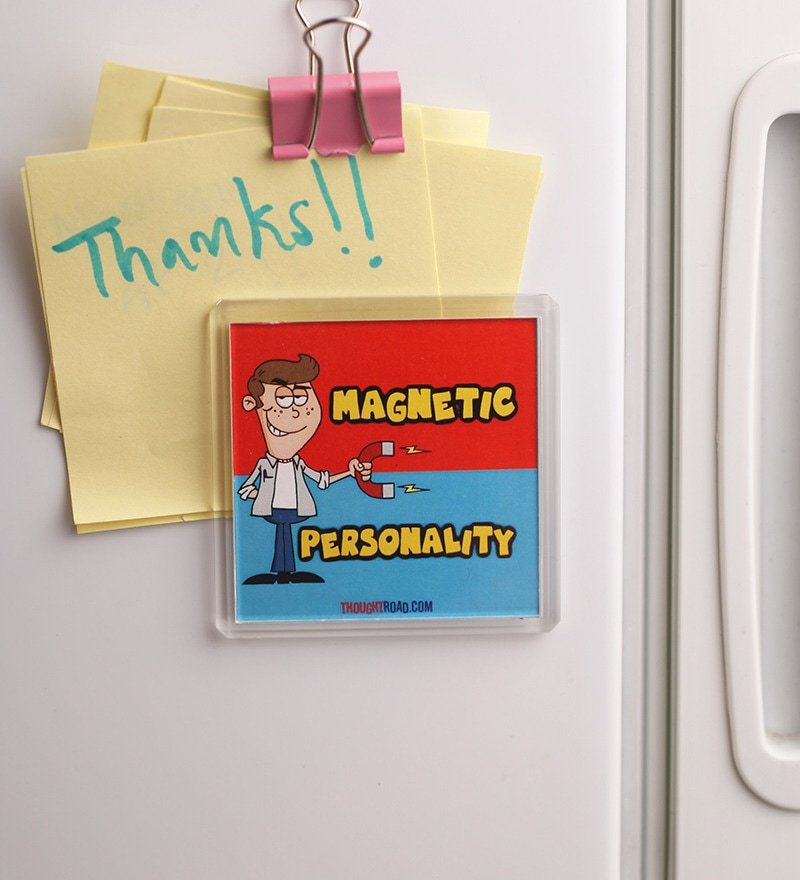 Multicolour Plastic & Paper Personality Fridge Magnet by Thoughtroad