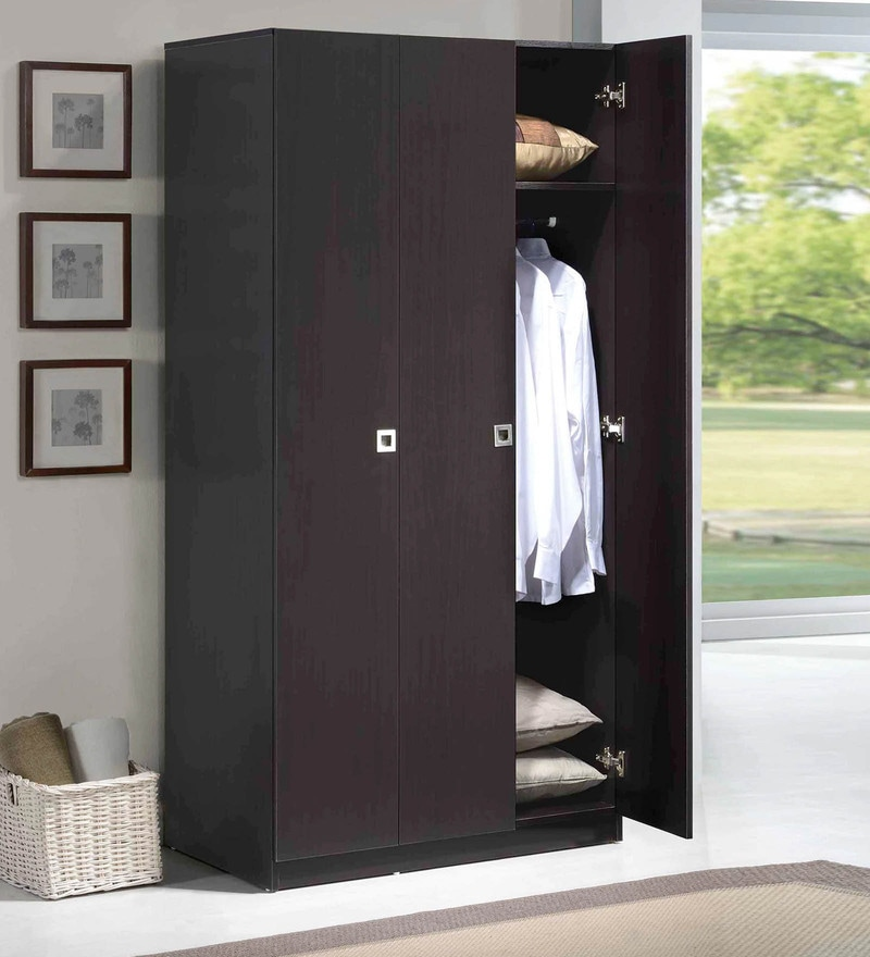 Three Door Wardrobe in Espresso Finish by Evergreen