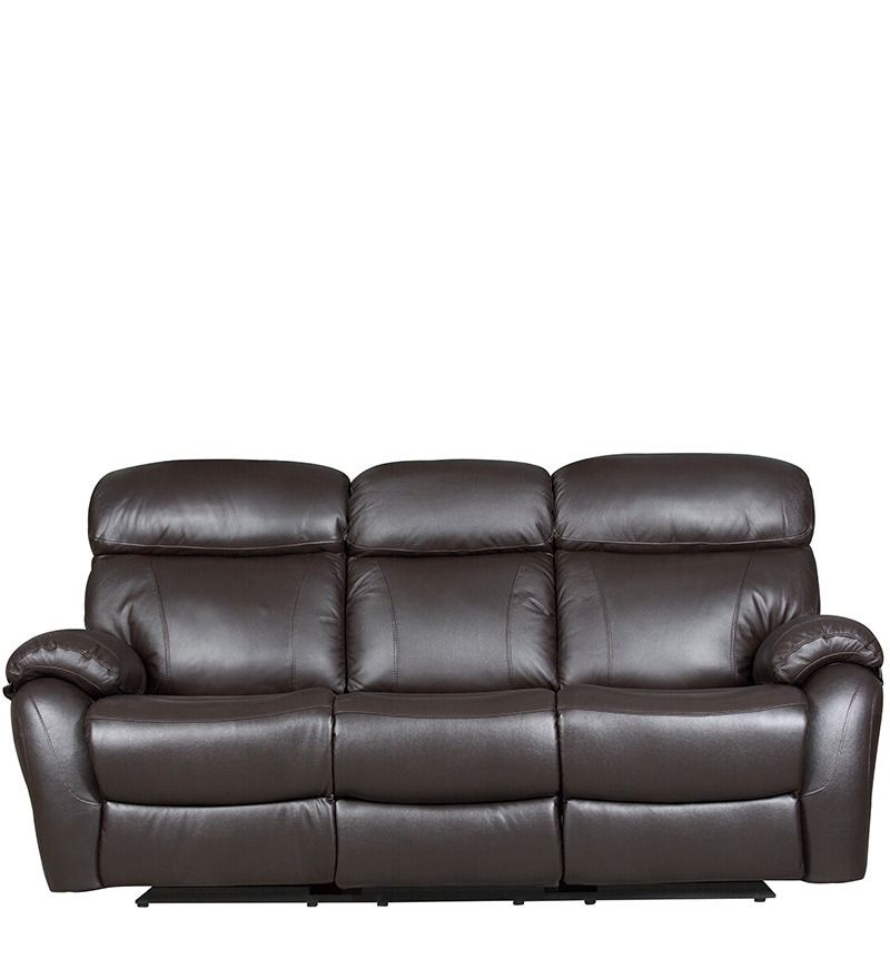 Half Leather Sofa Price Malaysia: Buy Three Seater Half Leather Sofa With 2 Manual Recliners