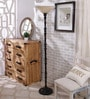 Beige Glass Uplighter Floor Lamp by The 7th Galaxy