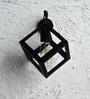 The Black Steel Black Iron Wall Lamp