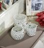 Deeprabha Tea Light Holders Set of 3 in Transparent by Mudramark