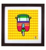 The Elephant Company Acrylic & Wood 16 x 2 x 16 Inch Rickshaw New Framed Digital Art Print