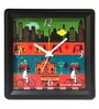 The Elephant Company Multicolour Glass & Plastic 5.6 x 2 x 5.6 Inch Busy Sheher Alarm Clock