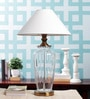 White Cotton Table Lamp by Kapoor E Illuminations