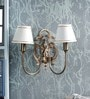Kapoor E Illuminations White Brass Wall Light