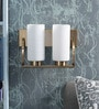 Kapoor E Illuminations White Glass Wall Light