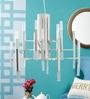 White Metal & Glass Pendant by Kapoor E Illuminations