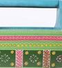 The Mikky Shoppe Station Multicolour Mango Wood & MDF Jodhpuri Stationery Holder