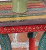 Multicolour MDF Rajasthani Painting Side Table by Nandani Wood