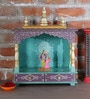 Aakash Hand Made Pooja Mandir in Multicolour by Nandani Wood