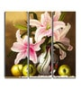 Lilies Engineered Wood 6 x 18 Inch Framed Art Panel by Hashtag Decor