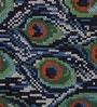 The Rug Republic Blue & Green Wool Geometric Pattern Carpet