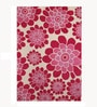 Grey & Pink Woollen Floral Hand Tufted Area Rug by The Rug Republic