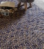 Multicolour Jute & Fabric Geometric Pattern Carpet by The Rug Republic